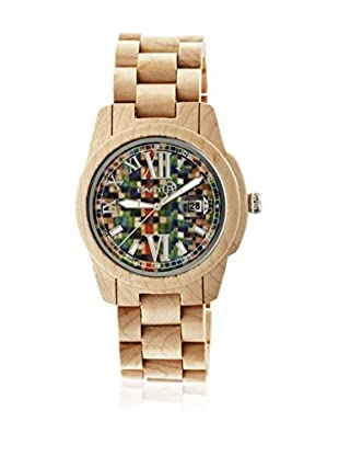 Earth Reloj con movimiento cuarzo japonés Unisex Heartwood Ethew1505 Beige 43 mm