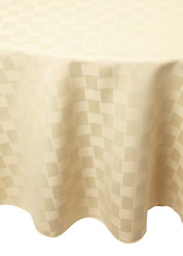 Bardwil Reflections Round Tablecloth (Straw)