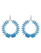 Praty Look Sea Blue Designer Round Earrings By Lazreena