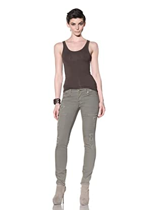 Workcustom Women's Panther Cargo Jeans (Olive Oil)