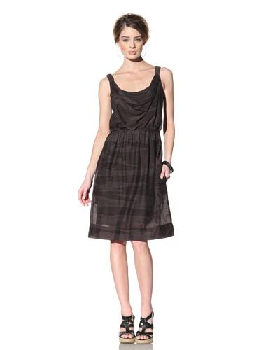 Nola Z Women's Cowl Neck Cami Dress (Black)