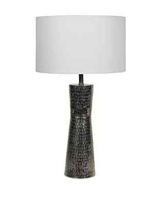 Filament Metal Table Lamp, Silver/White