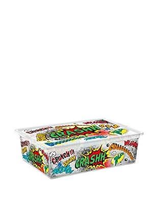 Kis Set Caja de Almacenamiento 6 Uds. C-Box Style L _ Comics Transparente/Multicolor