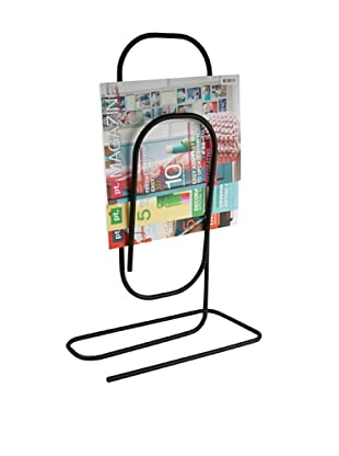 Present Time Paperclip Magazine Rack, Black