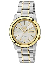 Seiko 5 Analog White Dial Men's Watch - SNKE54K1