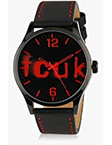 Fc1096Rrlgn Black/Red analog Watch FCUK