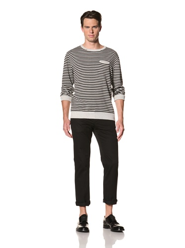 Standard Issue by Hyden Yoo Men's Kelson Sweater (Light Heather Grey/Black)
