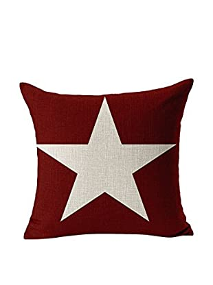 LO+DEMODA Kissenbezug Red Star 45 x 45 cm