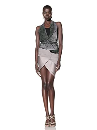 Improvd Women's Patsy Sleeveless Wrap Top with Drawstring Waist (Green Ombre)