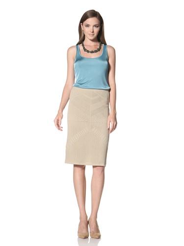 Anne Klein Collection Women's Pointelle Stitch Skirt (Beige)