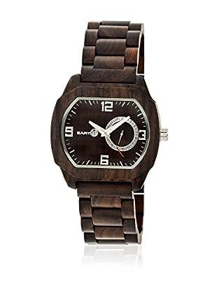 Earth Reloj con movimiento cuarzo japonés Unisex Scaly Ethew2102 Marrón Oscuro 46 mm