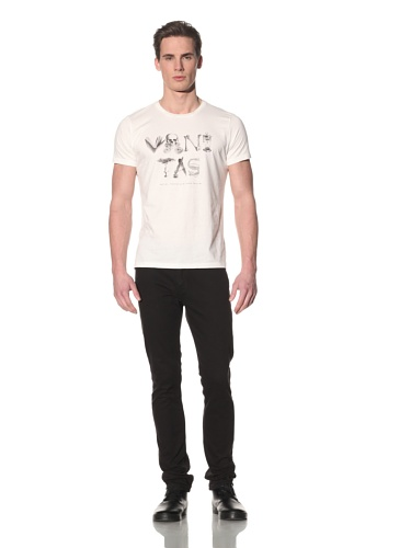 Tee Library Men's Vanitas Crew Neck T-Shirt (White)
