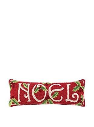 Peking Handicraft Noel Lumbar Pillow, Red