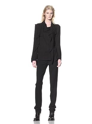 Ann Demeulemeester Women's Drape-Front Top (Black)