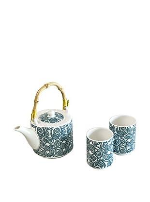 Molecuisine Tee Service 3 tlg. Set Oriented Tea Time himmelblau/blau