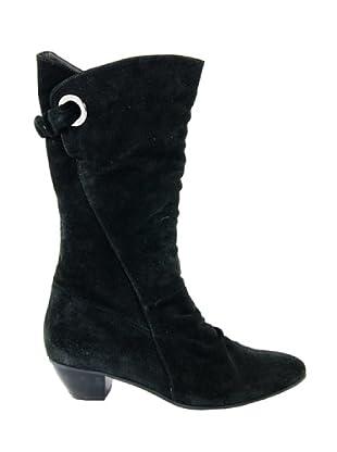 Eye Shoes Botas Tacón Bajo (Negro)