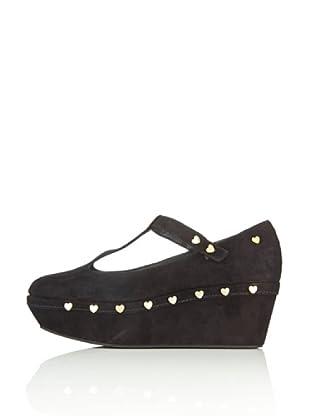 Love Moschino Zapatos Heart (Negro)
