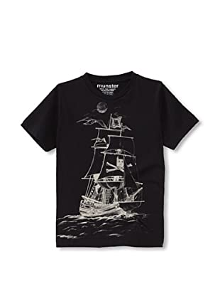 Munster Kid's Mickey Pirate Jersey Tee (Soft Black)