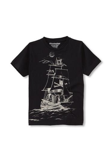 Munster Kid's Mickey Pirate Jersey Tee (Soft Black)