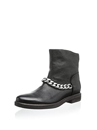 Vic Women's Bootie with Oversize Chain (Wood/Black)