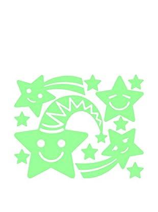 Ambiance Live Wandtattoo Fluorescent Smiling stars
