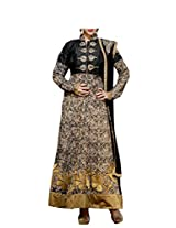 Admyrin Women's Black Raw Silk Salwar Kameez