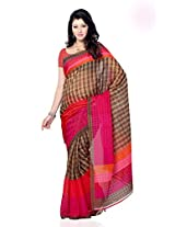 Shariyar Multi Color Art Silk Printed Saree PRG356