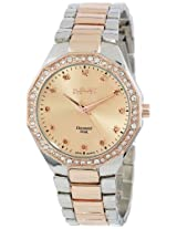 August Steiner Women's AS8044TTR Diamond Swiss Quartz Bracelet Watch