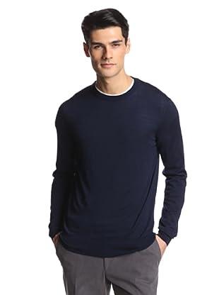 Salvatore Ferragamo Men's Crew Neck Sweater (Navy)