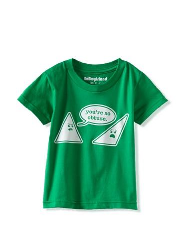 Ex-Boyfriend Boy's You're so Obtuse T-Shirt (Green)