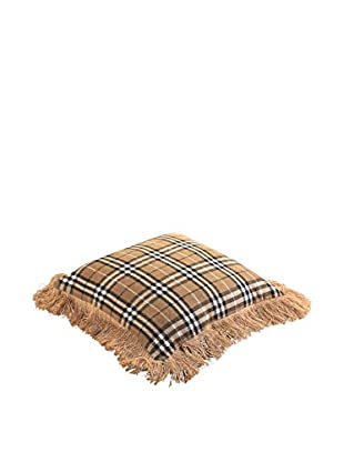 Napa Home & Garden Herringbone Burlap & Plaid Pillow, Camel/Black