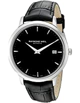 Raymond Weil Toccata Black Dial Black Leather Strap Mens Watch 5588-STC-20001