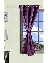 "Swayam Curtain Concept Faux Silk Window Curtain - 48""x60"", Purple"