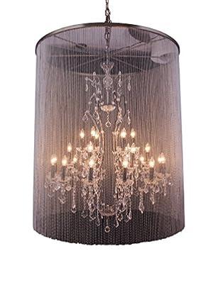 Urban Lights Brooklyn 25-Light Pendant Lamp, Mocha Brown/Royal Cut Crystal