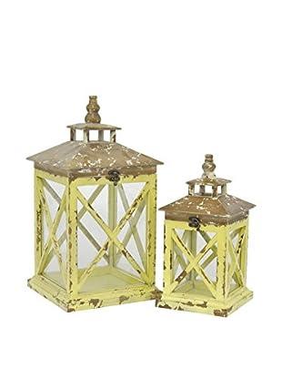 Three Hands Set of 2 Wood Terrariums