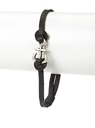 Griffin Black Port Leather Bracelet