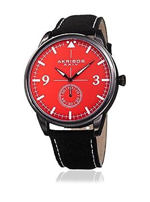 Akribos XXIV Quarzuhr Man schwarz/rot 45 mm