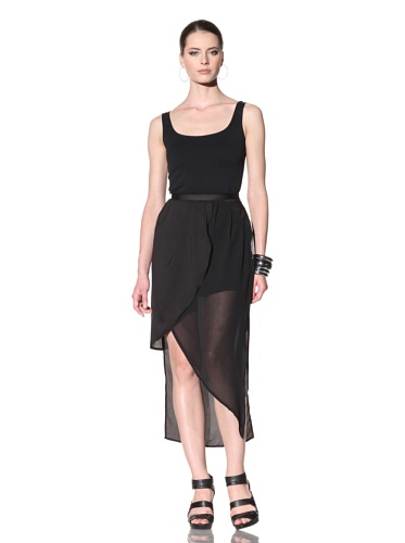 FACTORY by Erik Hart Women's Wrap Maxi Skirt (Onyx)