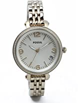 Fossil The Daddie Analog Watch - For Women White Gold - ES3181