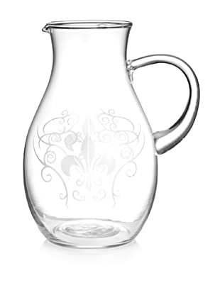 Home Essentials Etched Fleur-de-Lis Pitcher