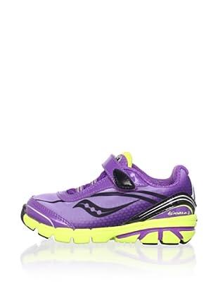 Saucony Kid's Kinvara B Running Shoe (Toddler/Little Kid/Big Kid) (Purple/Black/Citron)