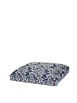 French Quarter Small Rectangle Pet Bed, Navy