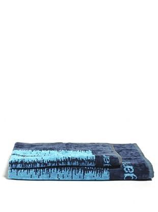 Ungaro Handtuch und Badetuch Wood (Blau)