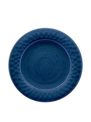 Color Wash Melamine Dinner Plate, Solid Blue