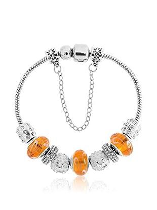 Diamond Style Armband Treasure Amber Clear Crystal