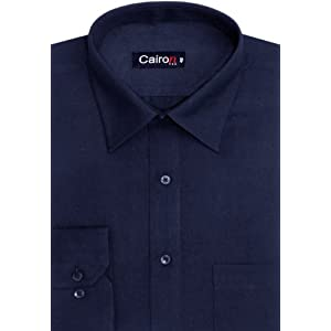 Cairon Navy Blue Solid Executive Formal Shirt