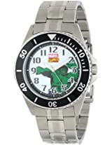 Marvel Comics Men's W000528 Hulk Honor Stainless Steel Bracelet Watch