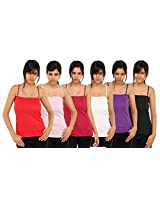 PACK OF 6 -ADJUSTABLE STRAP SPAGHETTI TOP FROM BOOSAH