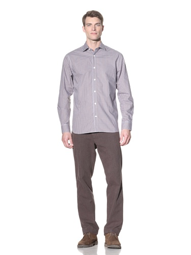 Hickey Freeman Sterling Men's Button-Up Shirt (Brown)