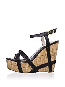Rosegold Women's Liliana Bow Espadrille (Black)